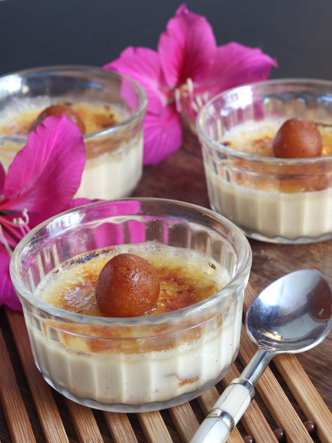 Gulab Jamun Cream Brûlée