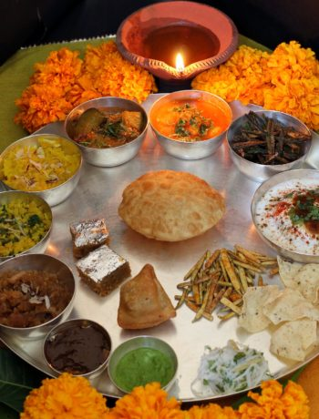 Traditional Marwari Diwali Thali