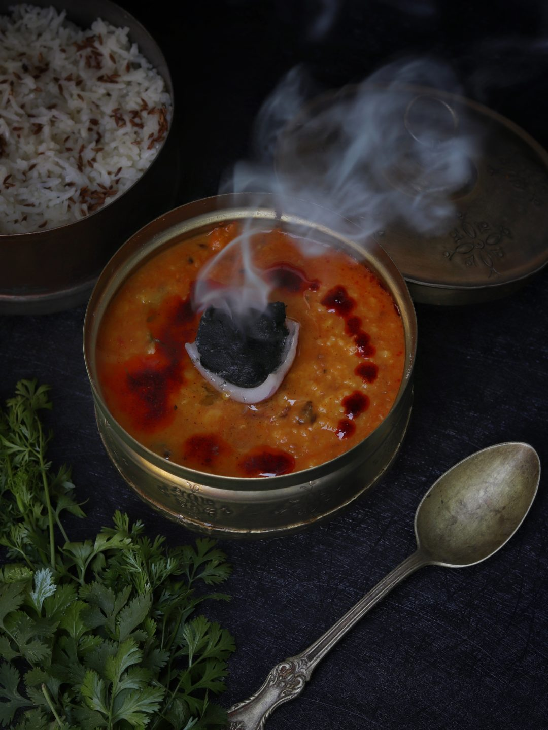 Smoked Moong Dal
