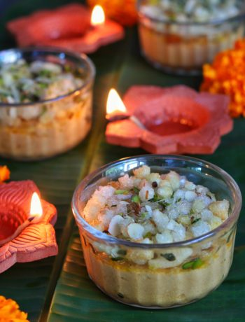 Nolen Gud Sandesh layered with Edible Gum